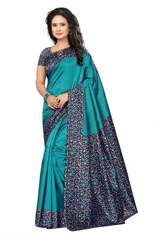 Sky Blue Color Cotton Silk Saree - SRP-NilamSkyBlue