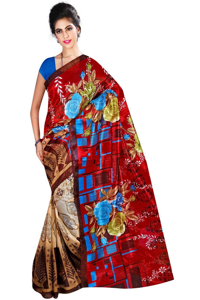 Multi Color Bhagalpuri Printed Saree