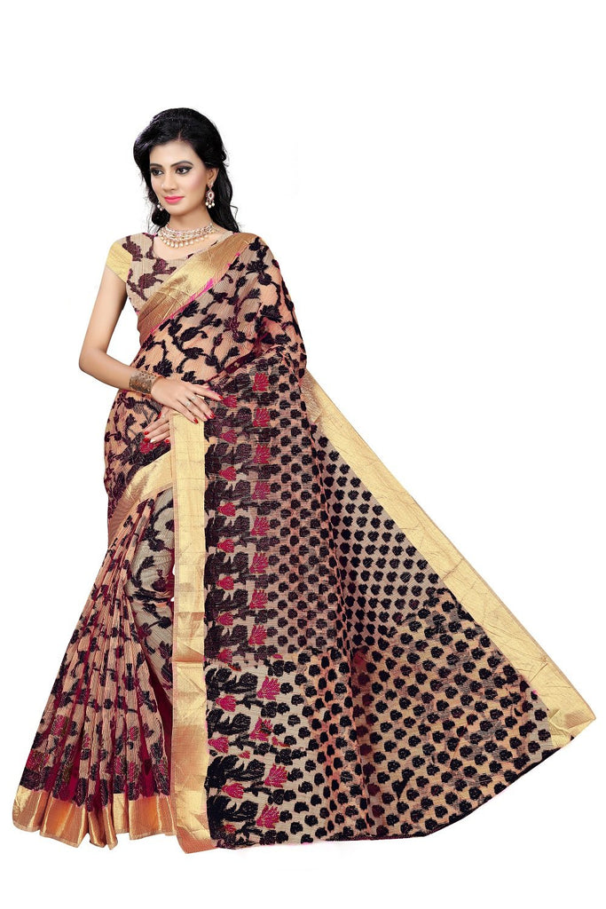 Black Color Viscos Jecquard Saree