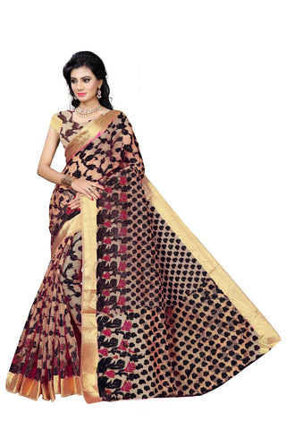 Black Color Viscos Jecquard Saree - SRP-Rinky Black