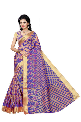 Purple Color Viscos Jecquard Saree - SRP-Rinky Purple