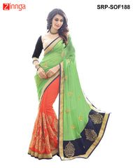 Women's Beautiful Latest Embroidery Saree