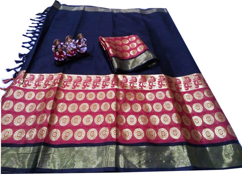 Black Color Poly Silk Jacquard Saree - SRP-TarunaBlack