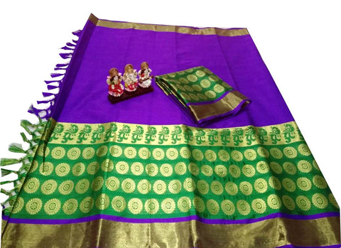 Purple Color Poly Silk Jacquard Saree - SRP-TarunaPurple