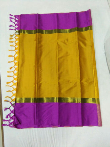 Yellow Color Soft Cotton Silk Saree - SRP-Yami Yellow