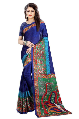 DarkBlue Color Fancy Cotton Silk Saree - SRP-Zara Dark Blue