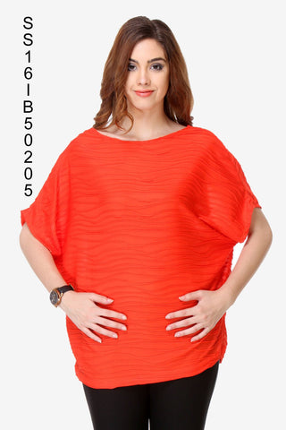 Orange Color Chiffon Women's Top - SS16IB50205