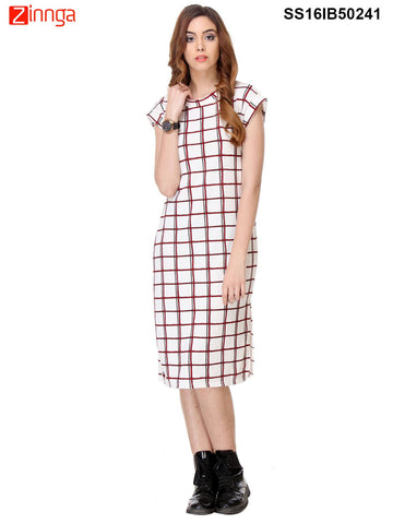 White Color Cotton Dress - SS16IB50241