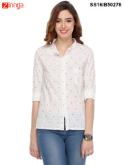 White Color Cotton Shirt
