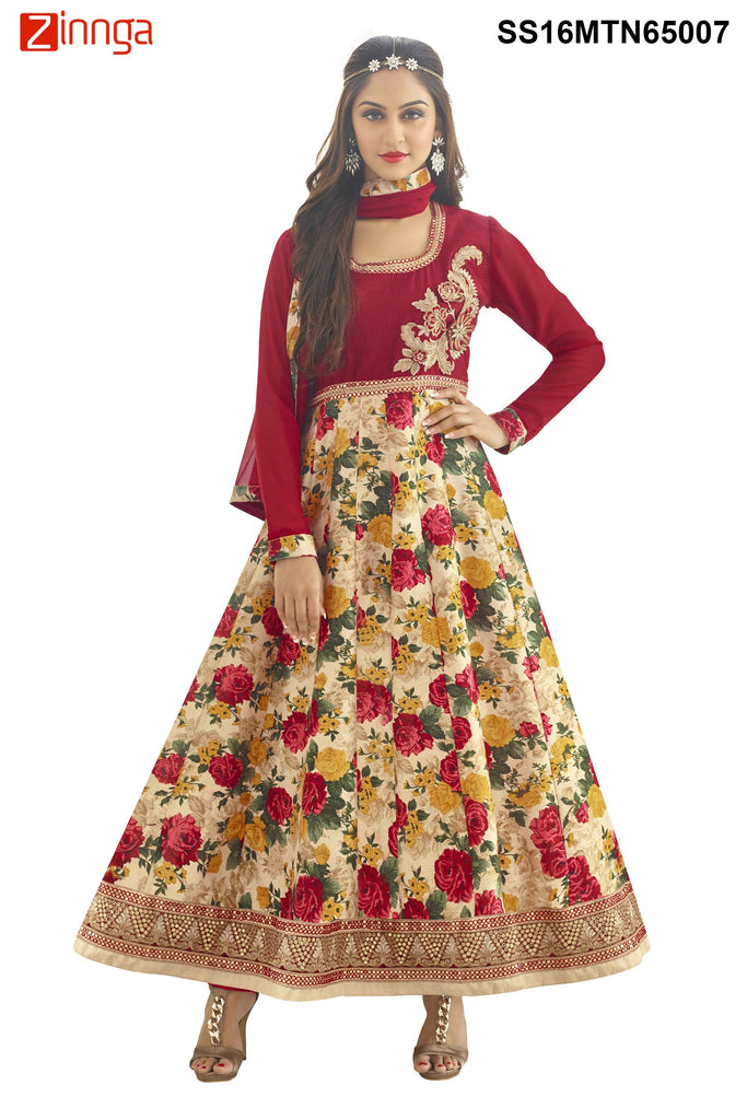 Multi Color Semstitched Bhalpuri Print Salwar