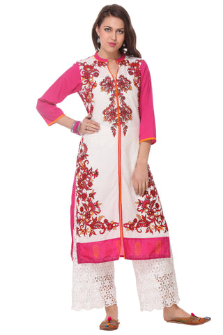 Multi Color  Cambric Stitched Kurti - SS16VARAMA11156