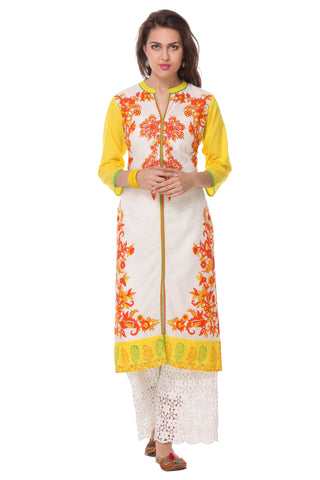 Multi Color  Cambric Stitched Kurti - SS16VARAMA11157