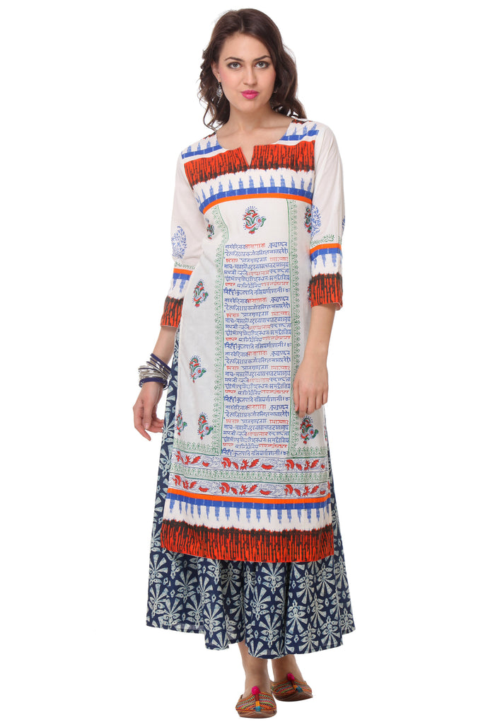 Multi Color  Cambric Stitched Kurti
