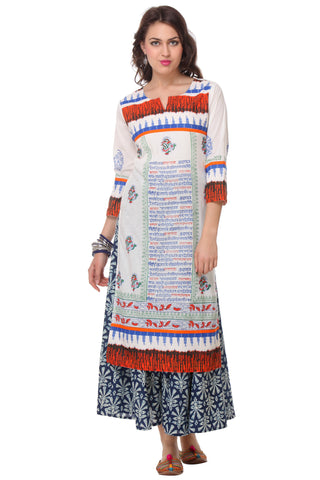 Multi Color  Cambric Stitched Kurti - SS16VARAMA11158