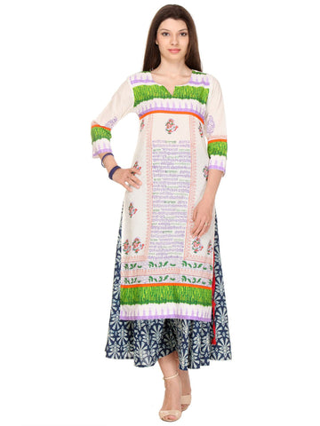 Multi Color Cotton Cambric Stitched Kurti - SS16VARAMA11170_CHR