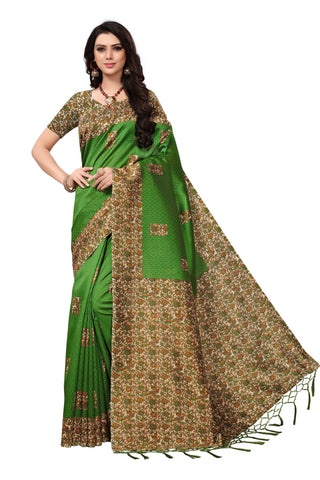 Green Color Mysore Silk with Tesals Printed Saree - SS181594