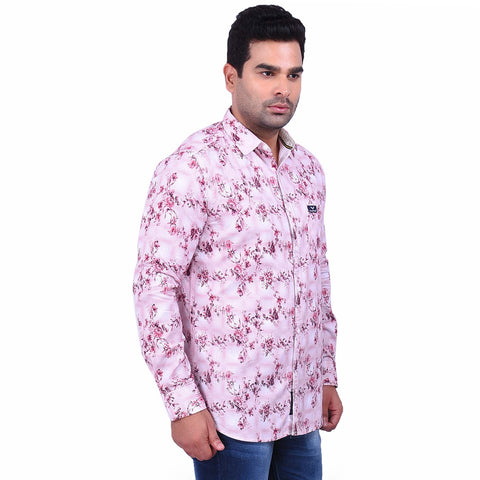MaroonColor Cotton Men's Printed Shirt - SS19AMCSH1020