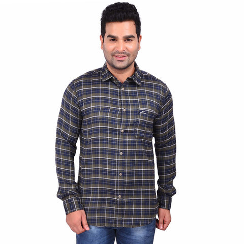Multi Color Cotton Men's Checkered Shirt - SS19AMCSH1040