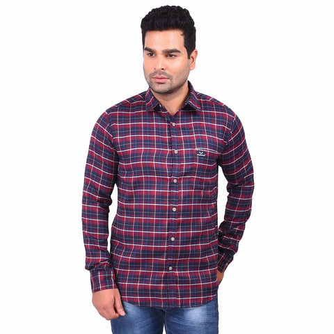 Multi Color Cotton Men's Checkered Shirt - SS19AMCSH1041