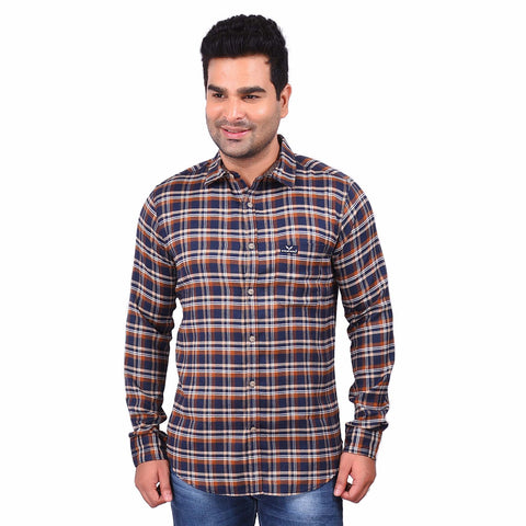 Multi Color Cotton Men's Checkered Shirt - SS19AMCSH1042