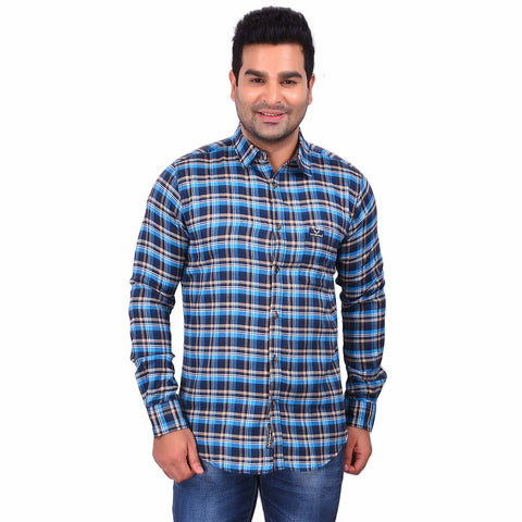 Multi Color Cotton Men's Checkered Shirt - SS19AMCSH1043