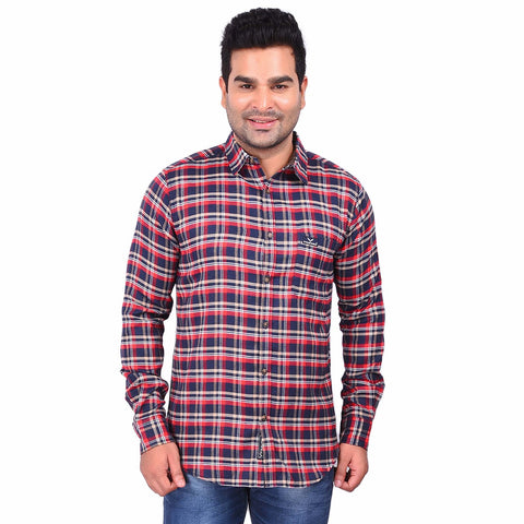 Multi Color Cotton Men's Checkered Shirt - SS19AMCSH1044