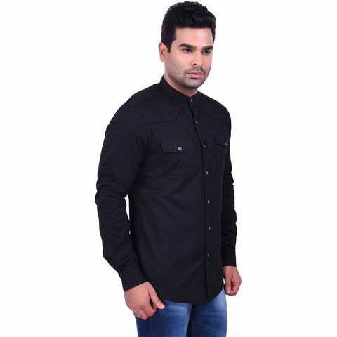 BlackColor Cotton Men's Solid Shirt - SS19AMCSH1047