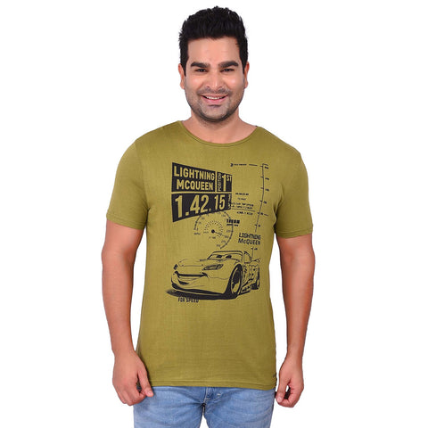 OliveColor Cotton Men's Printed TShirt - SS19AMCTE1004