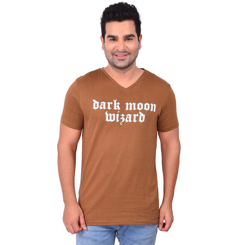 BrownColor Cotton Men's Printed TShirt - SS19AMCTE1022