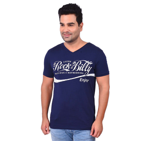 NavyColor Cotton Men's Printed TShirt - SS19AMCTE1028