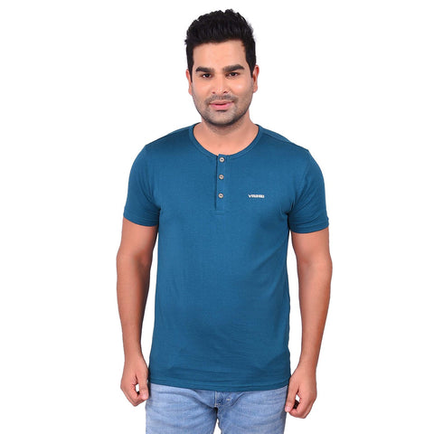 TealColor Cotton Men's Printed TShirt - SS19AMCTE1029