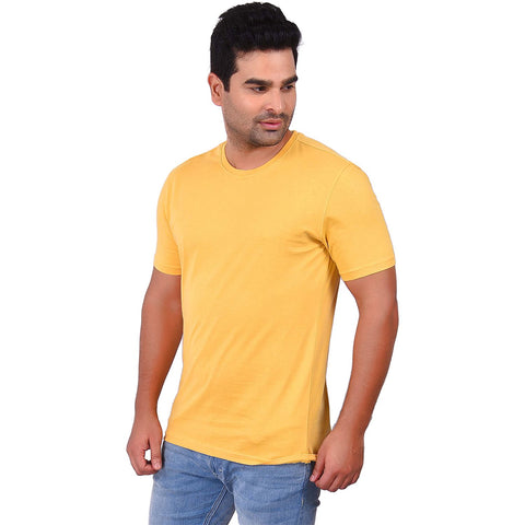 YellowColor Cotton Men's Solid TShirt - SS19AMCTE1035