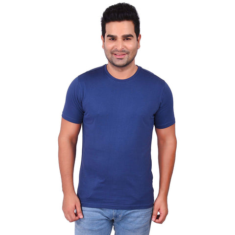 PurpleColor Cotton Men's Solid TShirt - SS19AMCTE1037