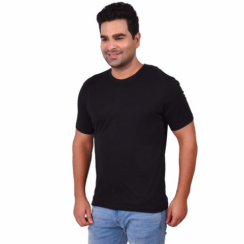 BlackColor Cotton Men's Solid TShirt - SS19AMCTE1044