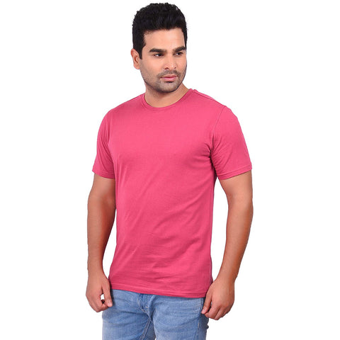 Red VoiletColor Cotton Men's Solid TShirt - SS19AMCTE1054