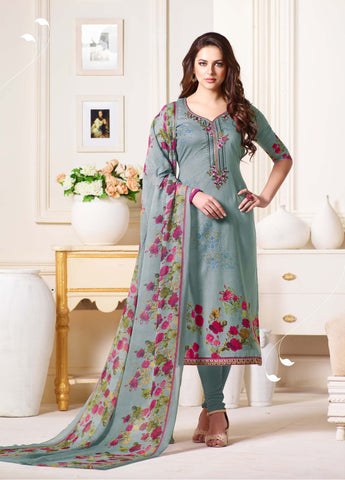 Multi Color Oure Cambric Cotton Unstitched Salwar - SSK-2084