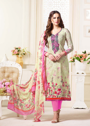 Multi Color Oure Cambric Cotton Unstitched Salwar - SSK-2085