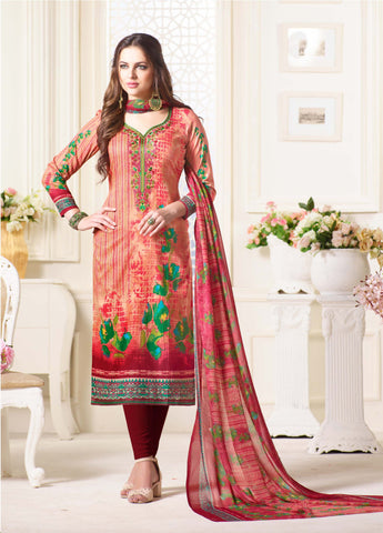 Multi Color Oure Cambric Cotton Unstitched Salwar - SSK-2086