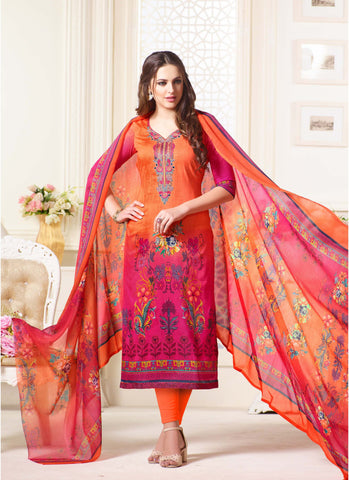 Multi Color Oure Cambric Cotton Unstitched Salwar - SSK-2087