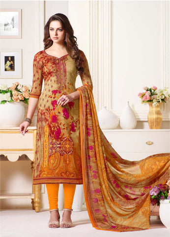 Multi Color Oure Cambric Cotton Unstitched Salwar - SSK-2088