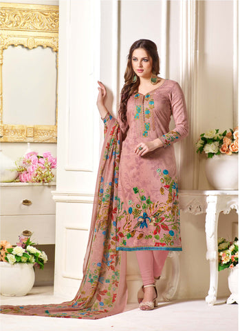 Multi Color Oure Cambric Cotton Unstitched Salwar - SSK-2089