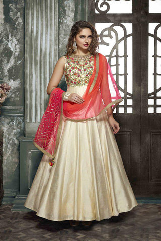 Chiku Color Zelmil Silk Gown - SSK-3040