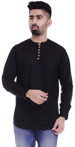 BlackColor Cotton Men's Solid Shirt - ST373