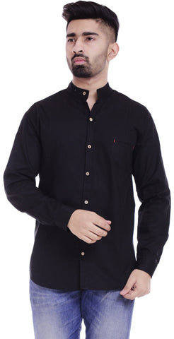BlackColor Cotton Men's Solid Shirt - ST378