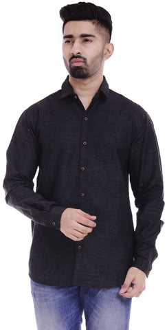 BlackColor Cotton Men's Solid Shirt - ST384