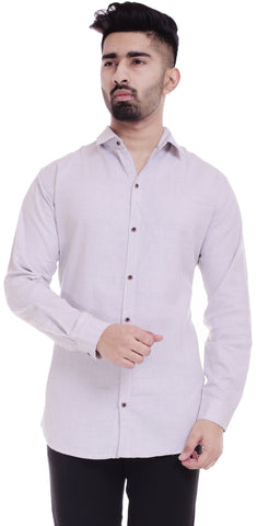 GreyColor Cotton Men's Solid Shirt - ST388