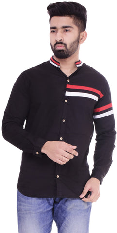 BlackColor Cotton Men's Solid Shirt - ST391