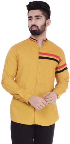 YellowColor Cotton Men's Solid Shirt - ST392
