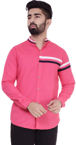 PinkColor Cotton Men's Solid Shirt - ST393