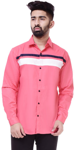 PinkColor Cotton Men's Solid Shirt - ST407